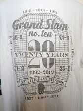 England Rugby White Graphic Grand Slam Tee Shirt by Nike Size Men's Medium