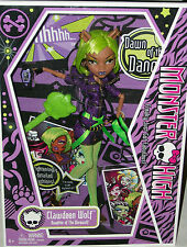 Monster High Dawn Of The Dance Doll Clawdeen Wolf Xmas goth horror halloween toy
