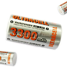 1 x Sub C 1.2V 3300mAh NiMH Rechargeable Battery Flat Top Ultracell Silver O