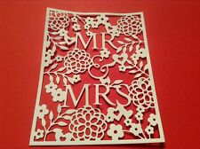 6 x MR & MRS die cuts **FREE POSTAGE**