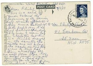 Postcard with 1969 Hand Cancel Gladstone Valley QLD AUST. Closed 11-08-1979