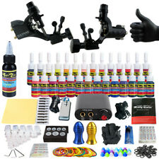 Professional Tattoo Machine Kits 2 Rotary Machine Guns 28 Inks Power Grip Sets