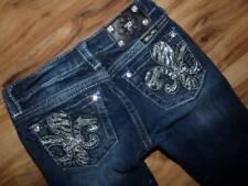 Girls size 12 crop jeans denim capris MISS ME bling
