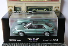 MAZDA 323F GLX 1992 LIGHT BLUE METAL NEO 43638 1/43 LHD LEFT HAND DRIVE