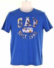 GAP Boys Graphic T-Shirt Top 14-15 Years 2XL Blue Cotton  DH14