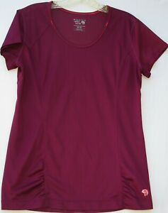 Mountain Hardwear women's short sleeve 100% polyester wick.Q gym shirt medium