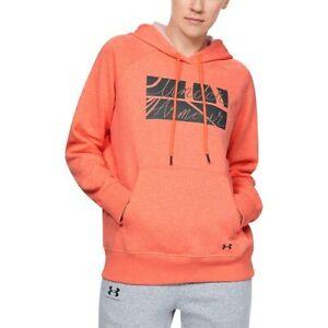 NWT Under Armour UA Fit Kit Favorite Fleece Graphic Women's Hoodie S M Peach