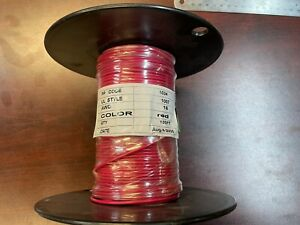 100-FT Red Spool Hook-Up Wire 16 AWG Copper Material PP1034