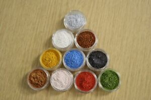 Pack of 10 x 50g Epoxy Resin Metallic Coloured Pigments FREE POSTAGE