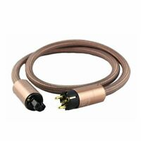 Hifi Schuko Power Cord CD amplifier amp EU Power Plug Cable HIFI AC Mains Power