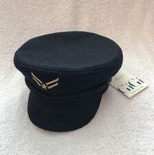 NWT Tommy Hilfiger X Gigi Hadid Navy Blue Wool Sailor Hat Cap Size S/M