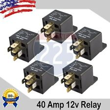 5PC Universal 40A AMP DC 12V Volt Automotive 5 Pin Car Relay