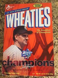 Joe Torre Wheaties Box 1999 World Series New York Yankees Champions (empty)