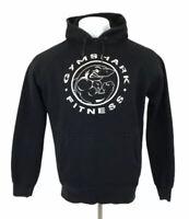 Gymshark Legacy Fitness Hoodie Black Big Logo Spellout XL Mens