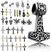 1 Kettenanhänger für Königskette Halskette Edelstahl Eisernes Kreuz Hülse Massiv