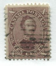 Canada 1859 10 cents red lilac Prince Albert used