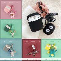 For Apple AirPods Keychain Cute Cartoon Silicone Earphone Case Cover Protective