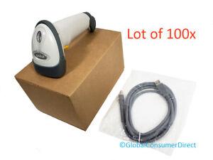 Menge 100x Symbol Motorola LS2208-SR20001 1D Laser Barcode Scanner + Neu USB