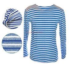 VDV Telnyashka Blue Airborne Russian Military Army Striped T-Shirt 100% Cotton