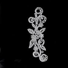 1 x 170 40mm Kristall Strass Motif Applikation Flicken Hochzeit Zum Aufnähen