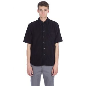 Our Legacy Towel Terry Button Up Shirt Black 48