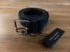 ORCIANI blue suede belt - Size 105 (fits size 40 waist best) - NWT