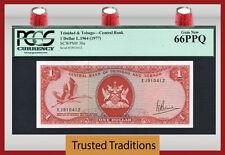 TT PK 30a 1964 TRINIDAD & TOBAGO $1 DOLLAR PCGS 66 PPQ GEM NEW POP 2 NONE FINER