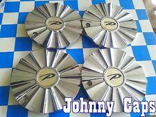 "UNKNOWN ""P"" Wheels Chrome Center Cap # HARMONY Custom Wheel Center Hub Caps (4)"