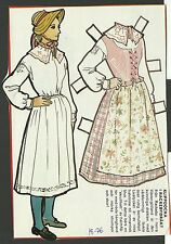 Female Costume Rackebydrakt Sweden Vintage Swedish Paper Doll Look!