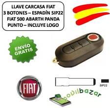 LLAVE CARCASA FIAT 500 ABARTH DUCATO PUNTO BRAVO 3 BOTONES SIP92 MANDO. ESPAÑA