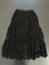 Lim's Vintage All Hand Crochet Maxi Length Skirt, Color Black, Size S, Lined