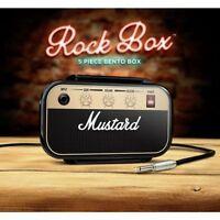 Brotdose Rock Box Bento Lunchbox Vesper AMP Verstärker Gitarre Fächer & Besteck