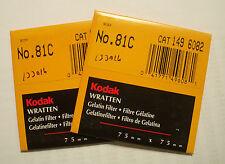 Kodak wratten GELATINA Filtro NO 81c 7.6cm OR 75mm Cuadrado
