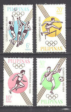 PHILIPPINES ,1964 OLYMPICS , SPORTS , SET OF 4 ,  PERF,  MNH