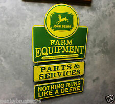 John Deere Farm Equipment Metal Vintage Style Signs 3pt Garage Gas Pump station