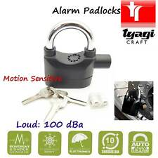 Alarm Padlock Black Lock Sensitive Loud Anti-Ice Spray Movement Motorcycle
