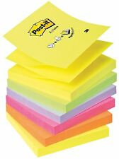 Post-it Z-Notes  Neon Rainbow Yellow, Green, Purple, Pink, Orange - 76mm x 76mm