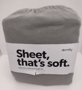 Dormify Super Soft Jersey T-shirt Sheets Light Gray size Full- New In Package