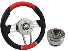 QUICK RELEASE RED V2 SPORTS STEERING WHEEL 310mm 6x70mm - MG