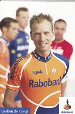 CYCLISME carte cycliste GERBEN DE KNEGT équipe RABOBANK  Cyclo cross
