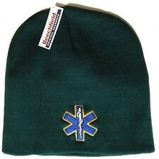 STAR OF LIFE Green Beanie Hat one size Beechfield Groups Embroider