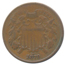 1870 2c Two Cent Coin Choice Very Good VG+ Condition