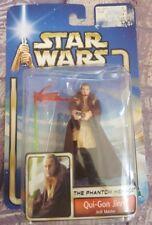 Hasbro Star Wars The Phantom Menace Qui-Gon Jin Jedi Master with Lightsaber 2002