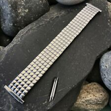 rare 1970s USA Made Stainless Steel nos Wide Vintage Watch Band Speidel