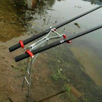 Einstellbare Doppel Pole Halterung Angelrute Halter Rest Edelstahl Fisch Be D7G8