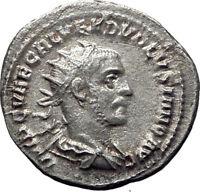 Volusian 251AD Silver Authentic Genuine Ancient Roman Coin PAX Peace Rare i65345
