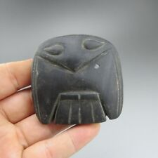 Chinese ,jade, Hongshan culture, natural jade,eagle, pendant D678