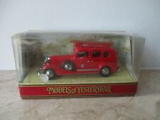 MATCHBOX MODELS of YESTERYEAR Y61 1933 CADILLAC FIRE ENGINE mit OVP