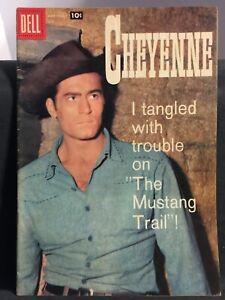 RARE! CHEYENNE #7 Clint Walker Photo Cover DELL WESTERN COMICS 1958 VG/F