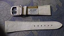 watch bands BRACELET DE MONTRE / CUIR VERITABLE CREME BLANC CASSE  22mm  / CL15